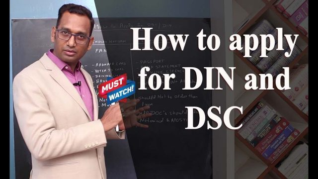 How to apply for DIN and DSC | Financial Coach